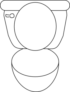 Toilet Bowl Clipart.