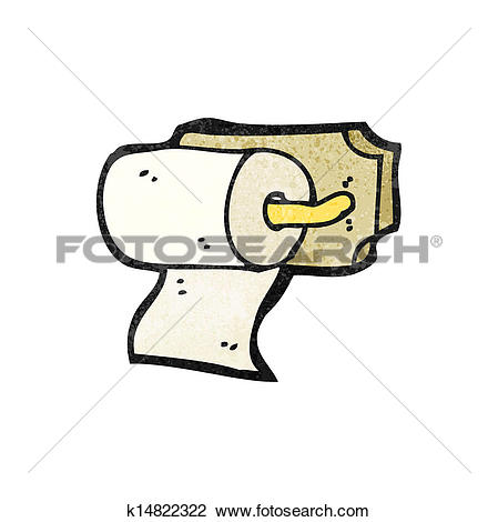 Clipart of loo roll holder cartoon k14822322.