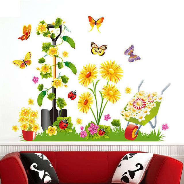 Aliexpress.com : Buy 3D Loofah vine Flower poster wallpaper living.