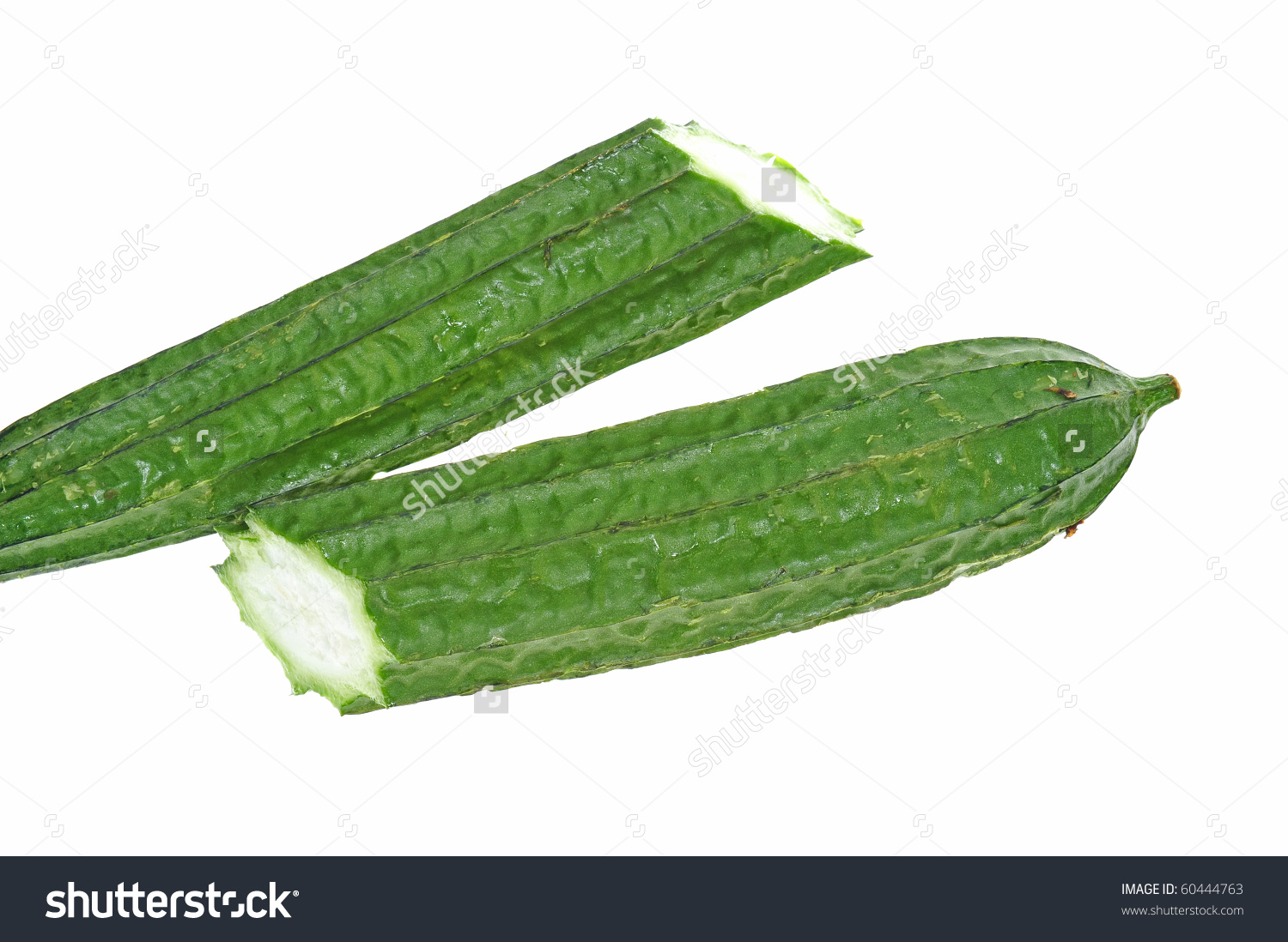 Angled Luffa ,Vegetable On White Background Stock Photo 60444763.