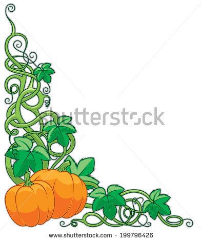 Pumpkin Vine Stock Images, Royalty.
