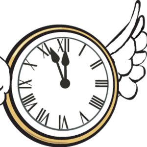 Time Flying Clipart.