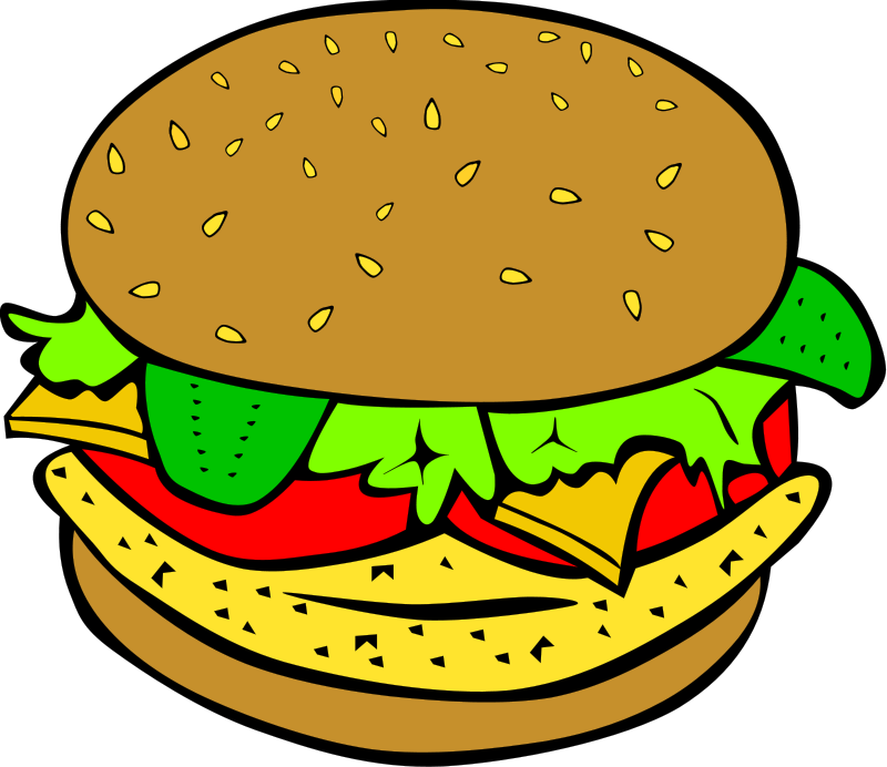 Hamburger Food Clipart Pictures Royalty Free.