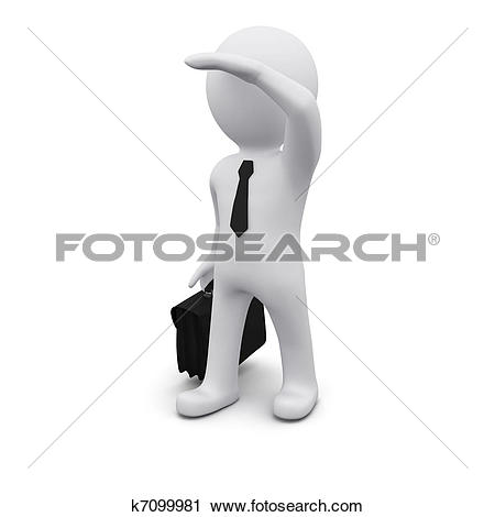 Pictures of Businessman look forward in future. k8503078.