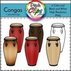 Hand Drums Clipart (Clip art).