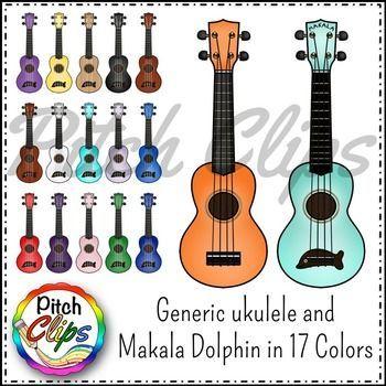 Ukulele Clip art (clipart) Makala Dolphin and generic.