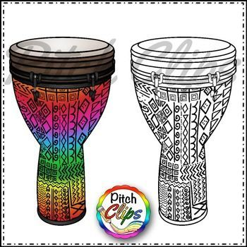 Djembe Drums clipart (Clip art).