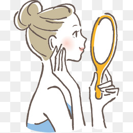To Look In The Mirror Clipart.