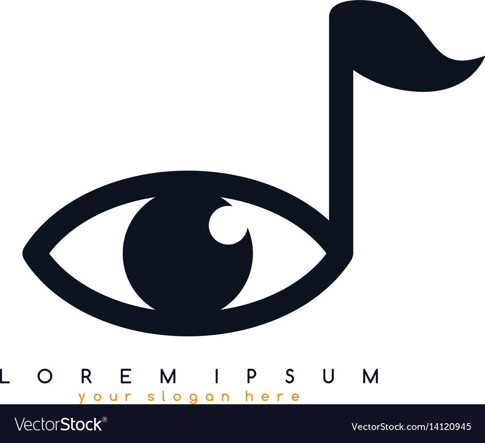 Key note eye sight watch look logo logotype.