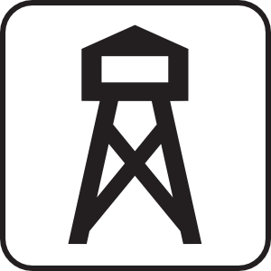 Lookout Look Out Tower White Clip Art at Clker.com.