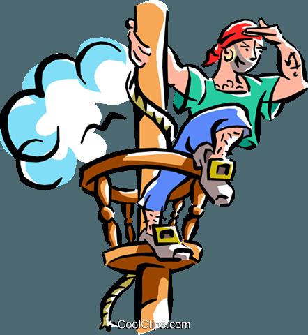 pirate ship Royalty Free Vector Clip Art illustration.