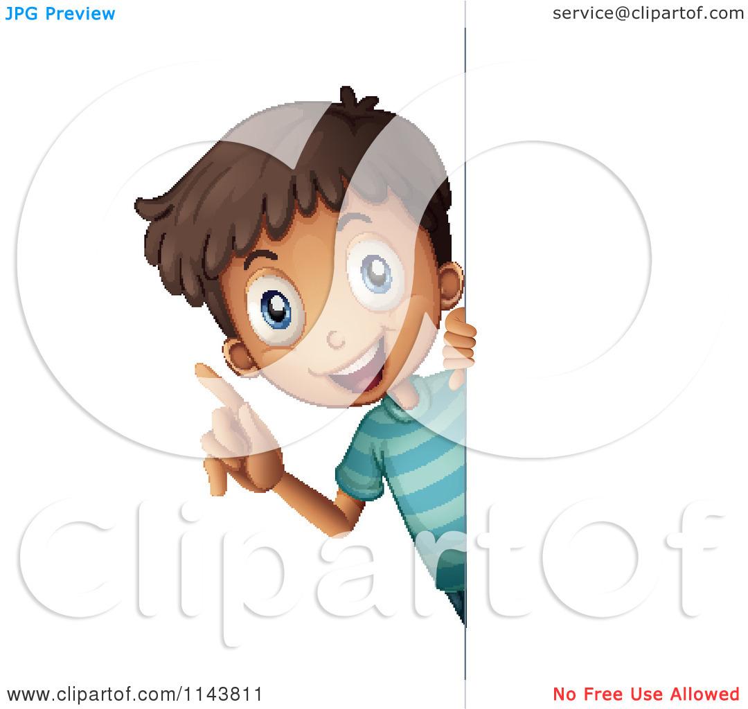 Boy Looking Around Clipart.