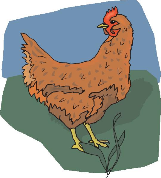 Brown Chicken Looking Back Clip Art at Clker.com.