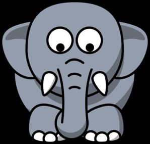 Elephant Looking Down Clip Art at Clker.com.