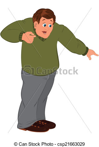 Clipart boy looking down.