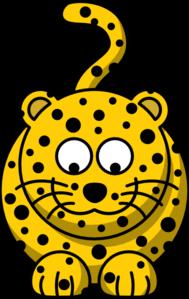 Leopard Looking Down Clip Art at Clker.com.