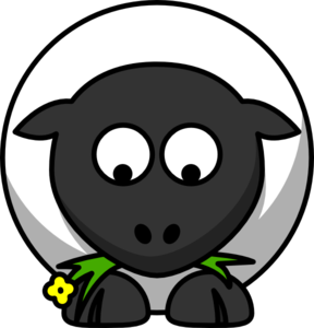 Sheep Looking Down Clip Art at Clker.com.