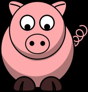 Pig Looking Down Clip Art at Clker.com.