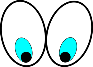 Eye looking down clipart.