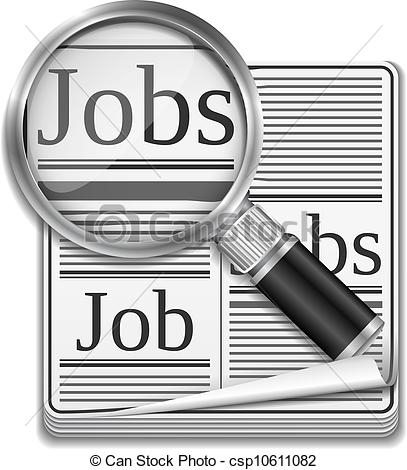 Citizen Looking For A Job Clipart.