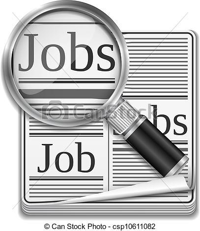 Looking for a Job Clip Art.