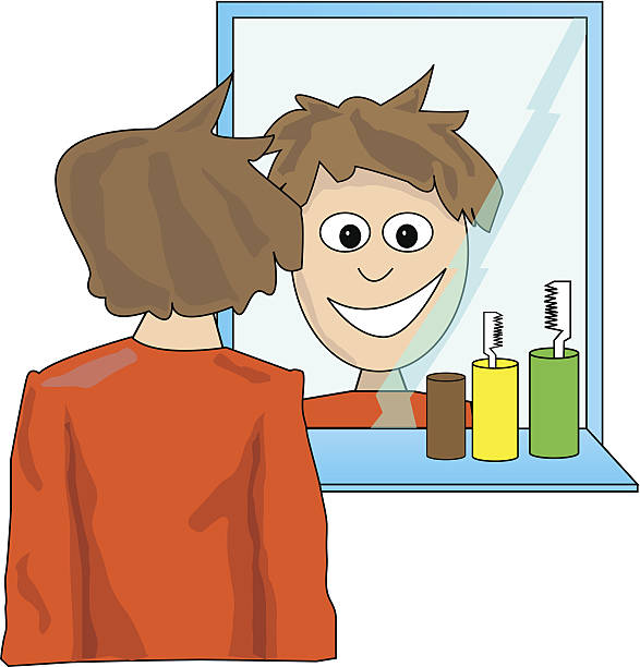 Looking In Mirror Clipart.