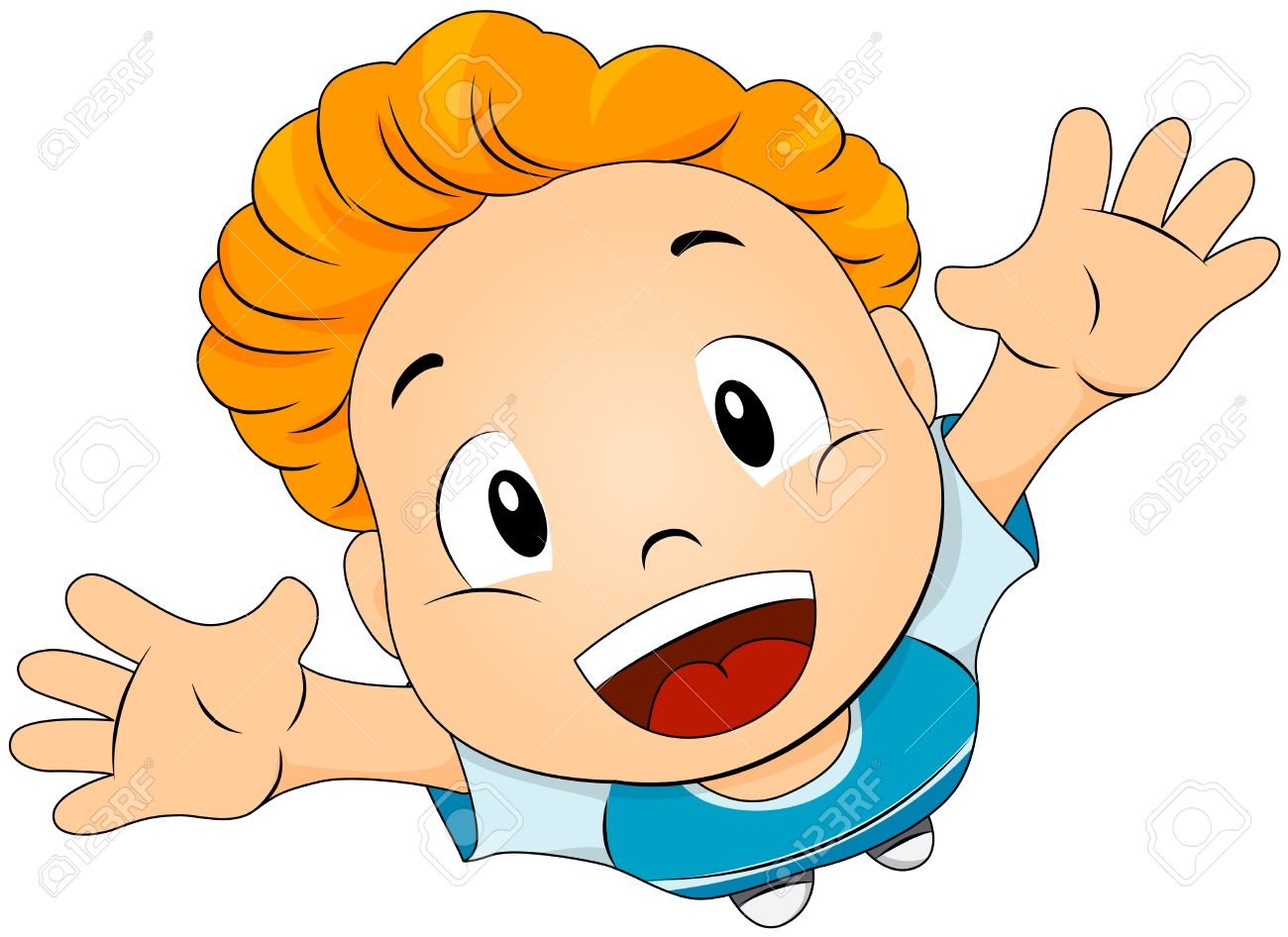 Child looking up clipart.
