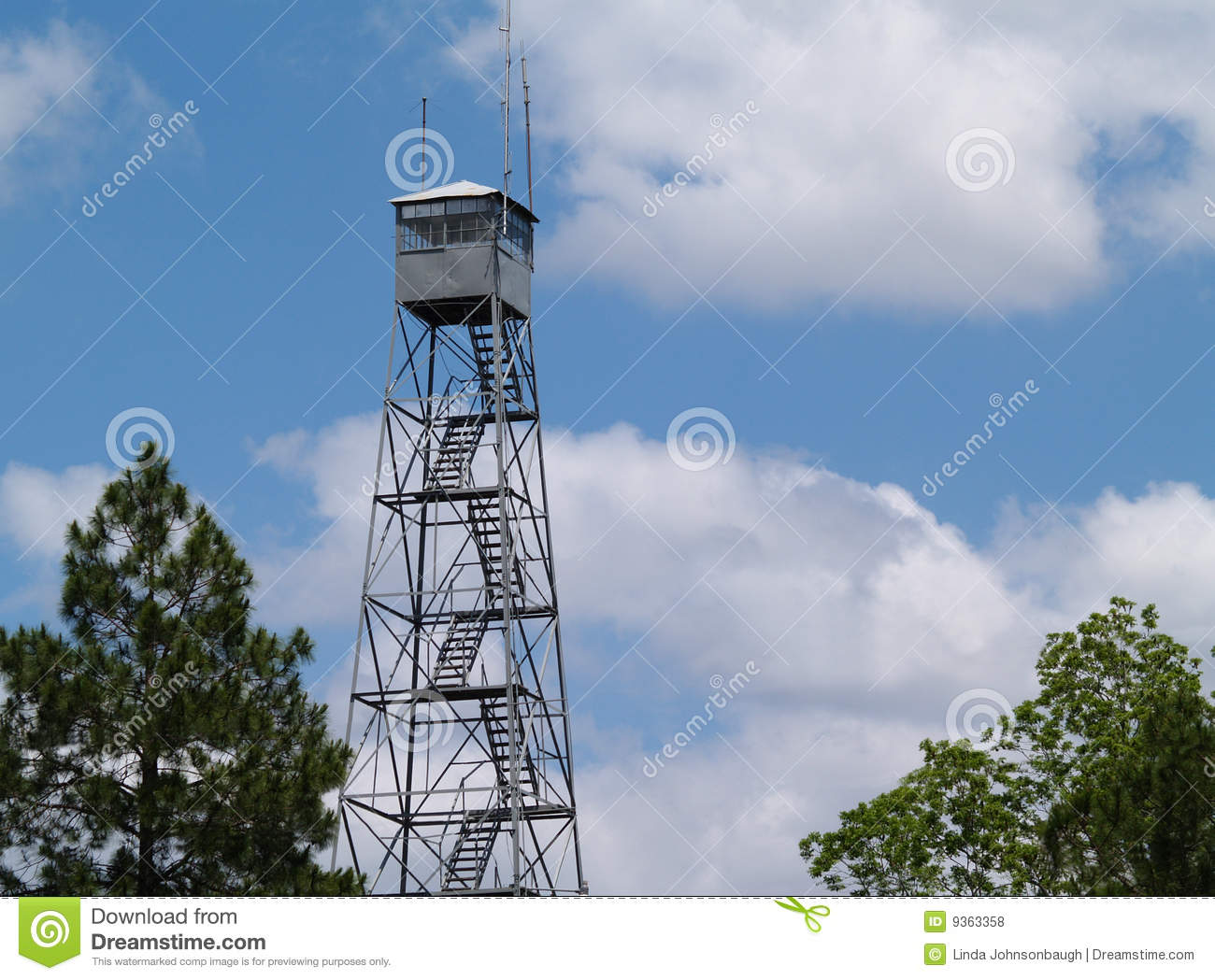 Fire Lookout Tower In South Georgia Royalty Free Stock Photos.