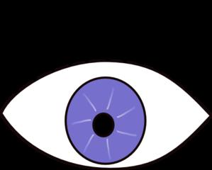 Blue Eye Looks Left Clip Art at Clker.com.
