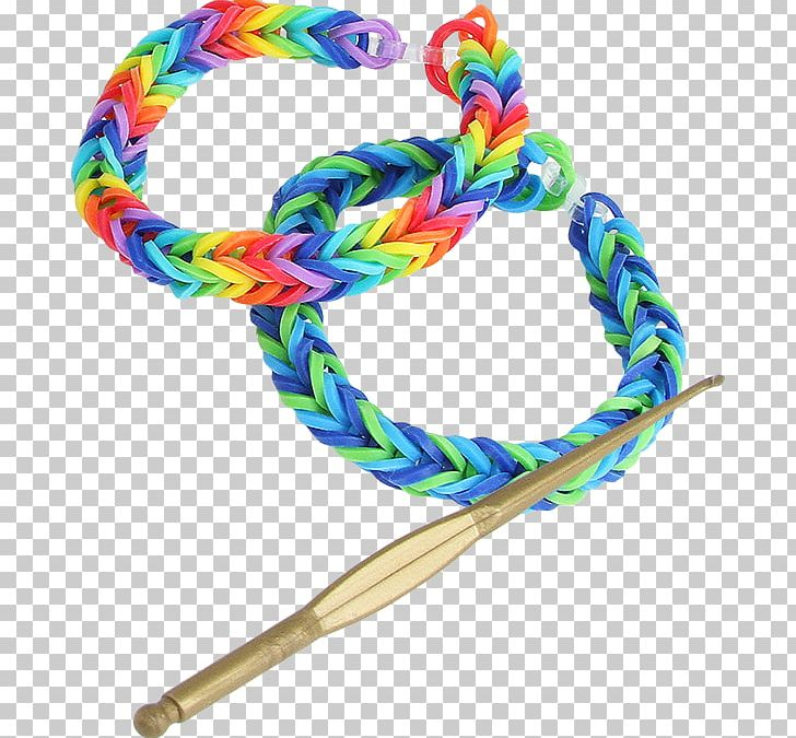 Rainbow Loom Rubber Bands Bracelet Plastic PNG, Clipart.
