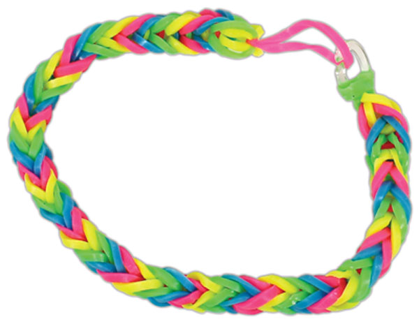 Loom Band Bracelet Fishtail Pattern.