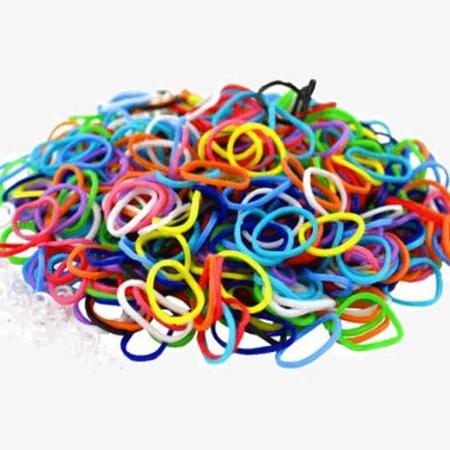 600pcs: Colorful Loom Bands.