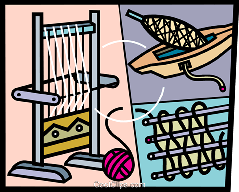 Weaving loom clip art.