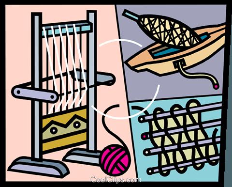 Weaving loom clip art.