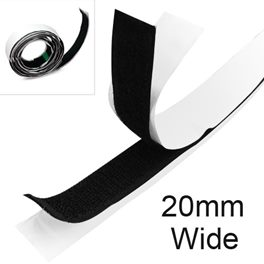 Stick On Self Adhesive Sticky Back Hook & Loop Tape 1m Hook and 1m.