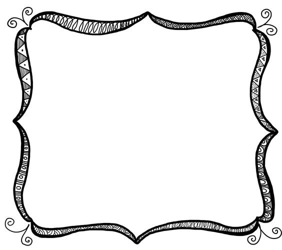 Free Loopy Frame Doodle Clipart No Background.