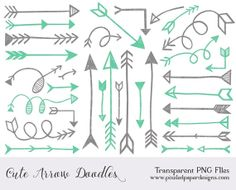 Loopy arrow clipart.
