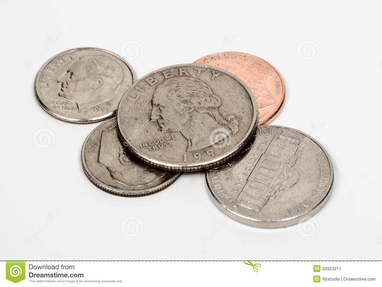 Loose Change Pocket Money Concept Stock Photo.