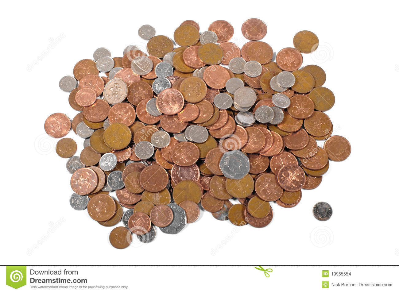 Loose Change Stock Images.