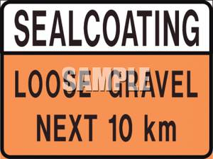 Loose Gravel Road Construction Sign.