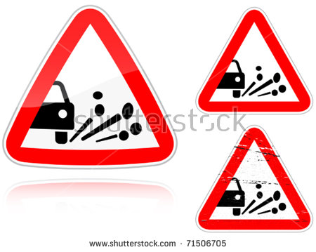 Gravel Road Sign Stock Photos, Royalty.