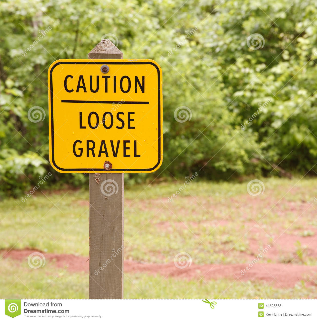 Loose Gravel Sign Royalty Free Stock Image.