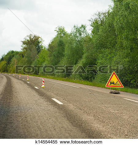 Stock Image of Loose gravel on the highway k14554455.