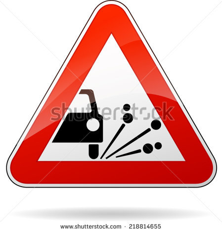 Loose Gravel Sign Stock Photos, Royalty.