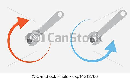 Vector of Wrench Tighten Loosen.