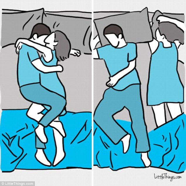 How the way you sleep with your partner reveals the state of your.