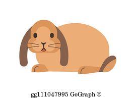 Lop Eared Rabbit Clip Art.