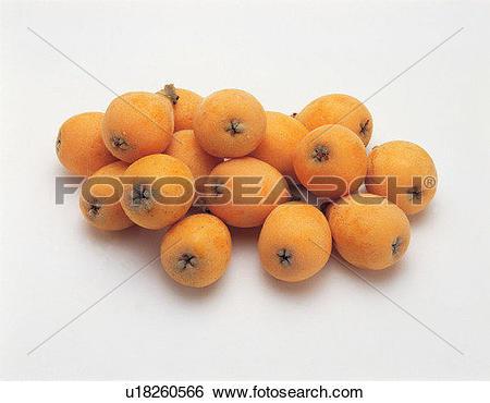 Stock Images of fruit, fresh, yellow, loquat, its fruit u18260566.
