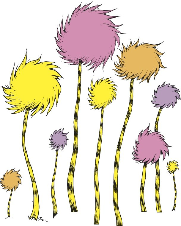 Lorax Truffula Trees Clip Art N2 image in Vector cliparts.