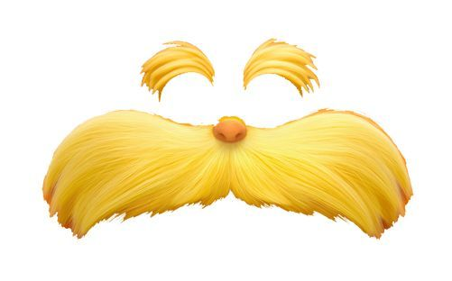 The Lorax Mustache Template Printable.